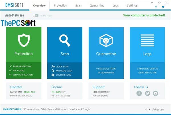 emsisoft anti-malware 2019 crack free