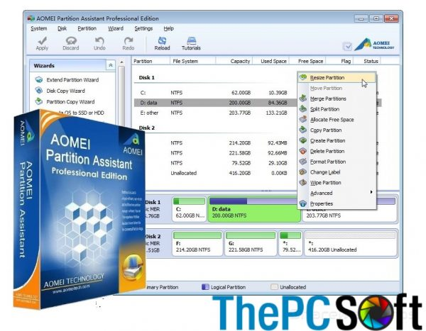 AOMEI Partition Assistant Pro 8 Crack