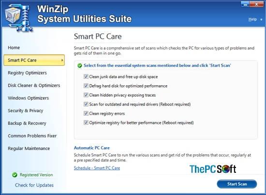 winzip system utilities suite 2020 rack